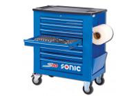 Fyllda verktygs trolley S10 285 pcs. blå