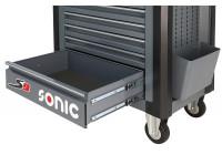 Stor låda mörkgrå för S9 verktygsvagn