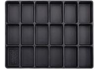 Behållare, tomma fack 18 (290x370x48mm)