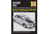 Haynes Workshop manual Audi A4 bensin och diesel (jan 2005-feb 2008)