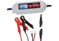 Helautomatisk 11-stegs batteriladdare Kraftpaket 6V / 12V -4A (med snabbspänning)