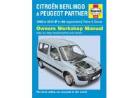 Haynes Workshop manual Citroën Berlingo & Peugeot Partner bensin och diesel (1996-2010)