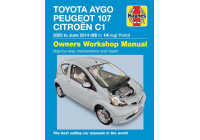 Haynes Workshop manual Citroën C1, Peugeot 107 och Toyota Aygo bensin (2005-2014)