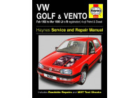 Haynes Workshop manual VW Golf & Vento bensin och diesel (feb 92 - mar 98) J till R