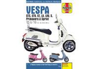 VespaGTS, GTV, GT, LX, LXV, S, Primavera & Sprint (05-18)