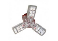 StarLED wit BAY15D - 3 leaves/24SMD