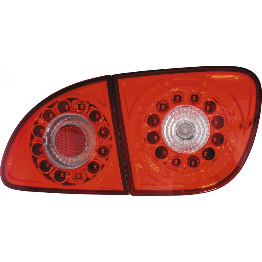 Set LED Achterlichten Seat Leon 1M 1999-2005 - Rood/Helder DL SER12L ...