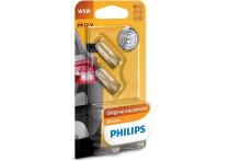 Philips 12961B2 W5W T10 wegdebase Premium 12V - 2 stuks