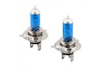 SuperWhite Blauw H4 60-55W/12V/4800/5000K Halogeen Lampen, set á 2 stuks (E13)
