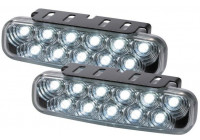 Set universele DRL dagrijdlampen (11LED) 110x30mm (incl. E-Keur)