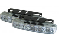 Set universele DRL dagrijdlampen (5LED) 104x22mm (incl. E-Keur)
