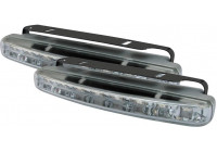 Set universele DRL dagrijdlampen (8LED) 156x22mm (incl. E-Keur)