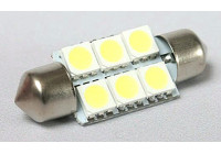 BudgetLED Festoon 36mm Wit 6x5050SMD 2 stuks