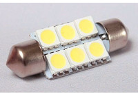 BudgetLED Festoon 42mm Wit 6x5050SMD 2 stuks