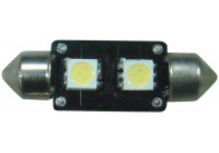 Festoon Lamp 2Q SMD Xenon-Optiek 10x43mm 12V, per stuk, met CAN-bus ondersteuning