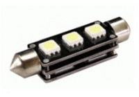 Festoon Lamp 3Q SMD Xenon-Optiek 11x43mm 12V, per stuk, met CAN-bus ondersteuning