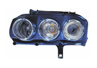 KOPLAMP LINKS MET PINKL. H7+H7 +MOTOR           AL