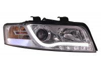Koplampen Audi A4 01-04 Tube DRL Chrome