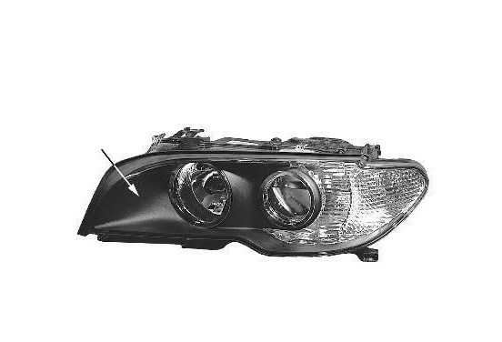 DUBBELE KOPLAMP VOOR L. H7+H7 WITTE Knipperlicht   A.L. 0653967M Magneti Marelli