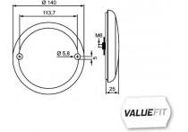 Mist-achteruitrijl.LED 10-30V ADR