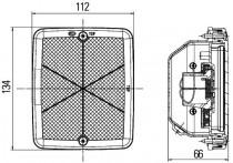 Mistachterl.LED 12V,gummi beh., H/V