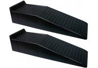 Kunststof oprijdbruggen - zwart - set van 2 stuks (Hoogte 17cm)