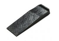 Kunststof Race Ramp oprijdbruggen - zwart - set van  2 stuks (Hoogte 9,5cm)