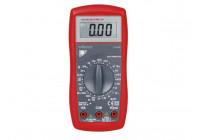 DIGITALE MULTIMETER - CAT. III 600V - 10A - DATA-HOLD-FUNCTIE / DIODETEST / BATTERIJTEST / ZOEME