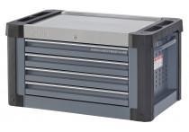 Lege topbox S9 4 laden donkergrijs  (RAL7011)