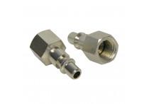 Adaptor 1/4 inch man binnendraad 1/4 inch 2 stuks