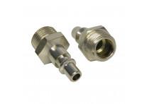Adaptor 1/4 inch man buitendraad 3/8 inch 2 stuks