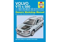 Haynes Werkplaatshandboek Volvo V70 / S80 benzine & diesel (1998 - 2007)