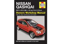 Haynes Werkplaatshandboek Nissan Qashqai benzine & diesel (2007-Jan 2014)