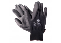Handschoenen Pu-Flex zwart maat 10 (XL)