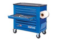 Gevulde gereedschapwagen S11 533-dlg blauw