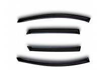 Side wind deflectors Chevrolet Matiz 2005- 4-piece set front + rear